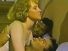 White girl in pretty white panties shared by a couple of black guys that fuck her good